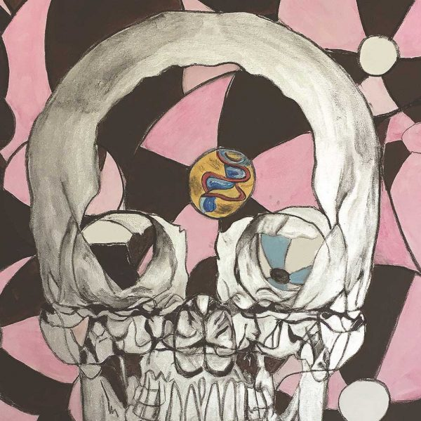 skull pink balloon zoom