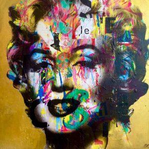 Marilyn Pop Art Gold
