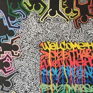 œuvre du graffeur Dok