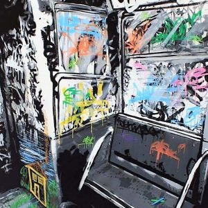 œuvre du graffeur Kurar