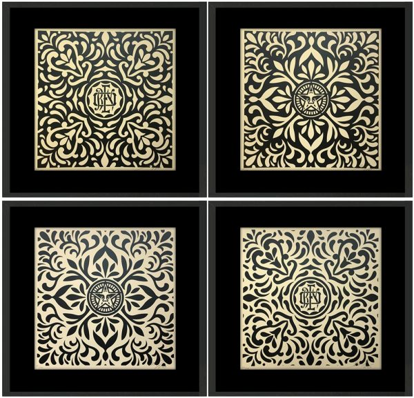 Série de 4 sérigraphies de Shepard Fairey