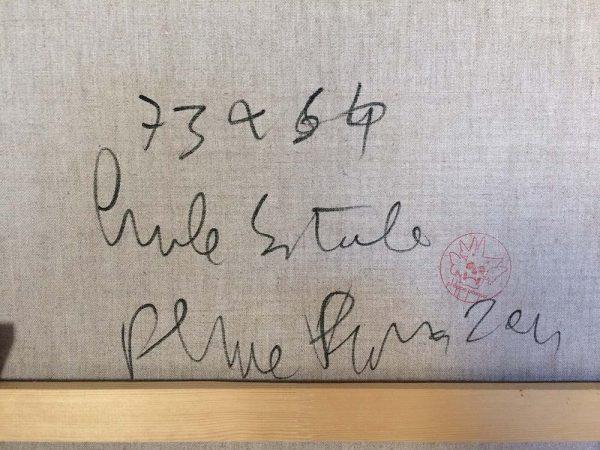 sans titre rouge de Philippe Pasqua