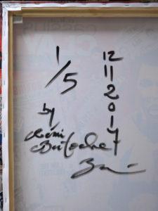 Signature Cassius Clay Rémi Bertoche 1 sur 5